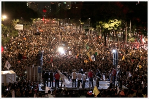 December 1 protest against President Peña Nieto in Mexico City