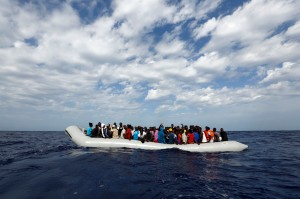 MOAS rescue 105 migrants in rubber dinghy Photo: Darrin Zammit Lupi/MOAS